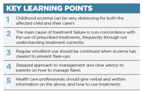 Managing Childhood Eczema in Primary Care: A 10-Minute Update - key learning points